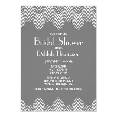 Vintage 20s art deco bridal shower invitation geometric wedding vintage 20s art deco bridal shower invitation filmwisefo Gallery