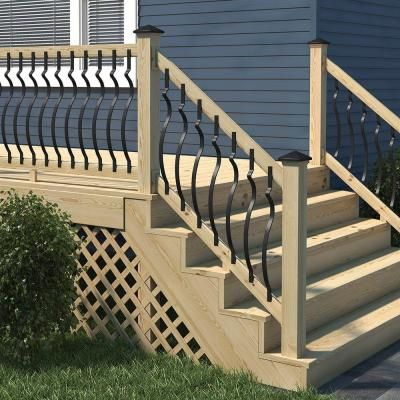 Deckorail 6 Ft Pressure Treated Aluminum Contour Lightning Rail