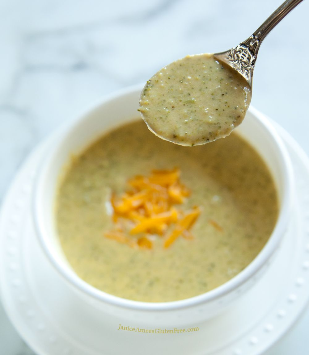 Broccoli Cheese Soup by Janice Amees Gluten Free
