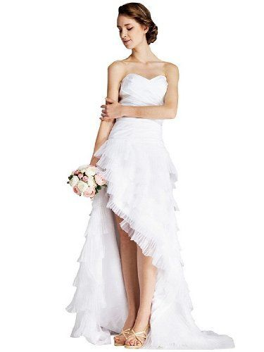 Topwedding Sweetheart Layered Organza Wedding Dress With High Low Hem S16 White Http Www Dp B00a76bp38 Ref