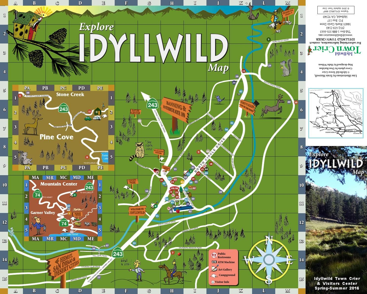Explore Idyllwild Map 1 2016 Explore Idyllwild