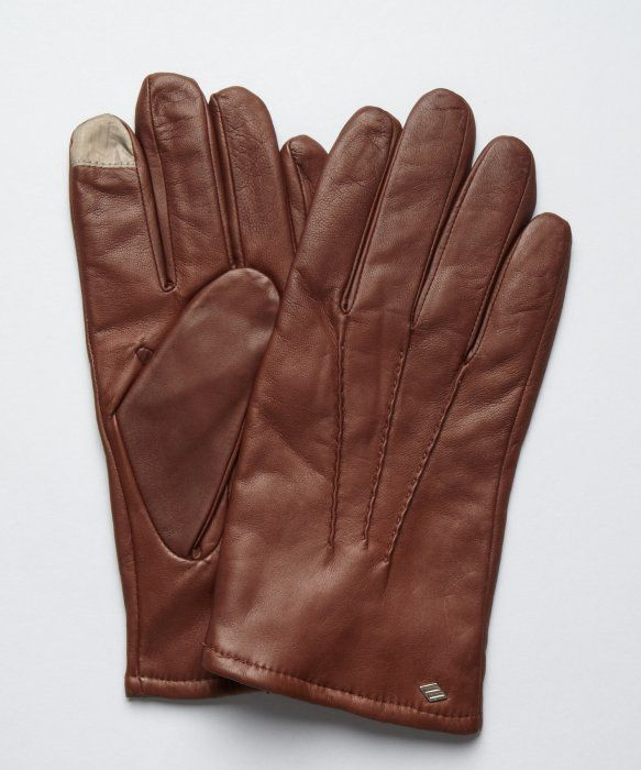 a4dd2c4d87f3c Joseph Abboud   dark brown leather and cashmere lined  Touch technology   gloves   style   319322402