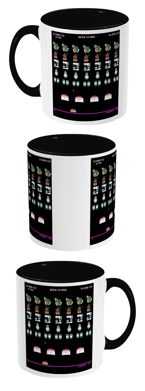 Space Coffee Invaders Ceramic Mug | Mugs, Ceramic mugs ...
