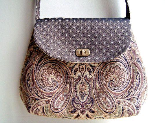 Cross Body Vintage Handbag Fabric Bag Handmade Bags And Purses Via Etsy