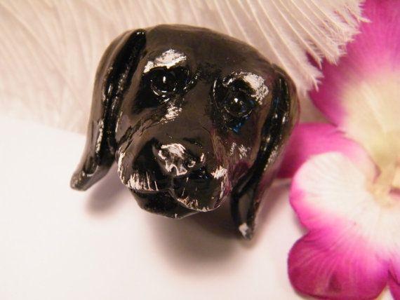 Drawer Pull / Black Lab Dog / Handle Knob Cabinet Pull / Knob And Pull /  Unique Drawer Pull / Animal Lovers / Home Decor Accent /