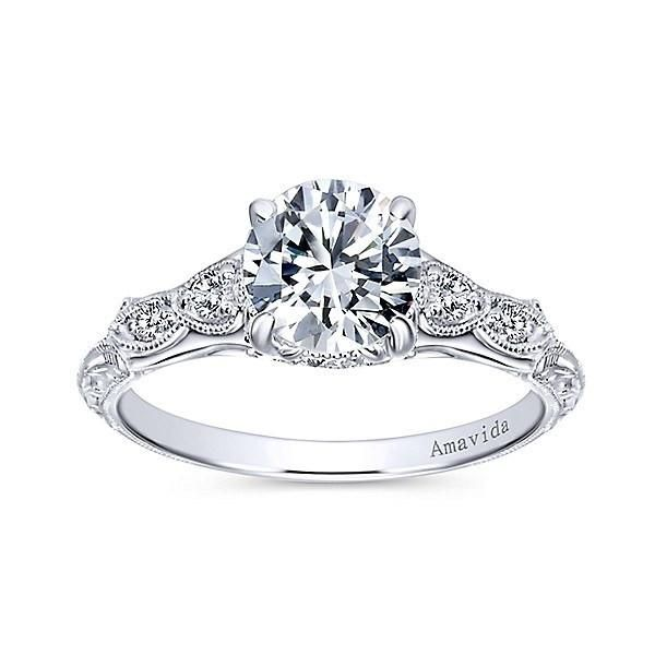 new contemporary amavida engagement white wedding gold ring halo rings of