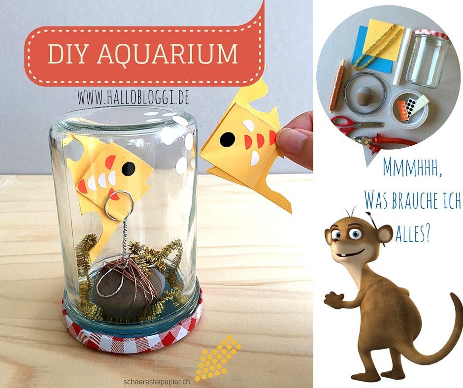 Wir basteln ein DIY Aquarium mit Euch! Hallo Bloggi von www.hallobloggi.de