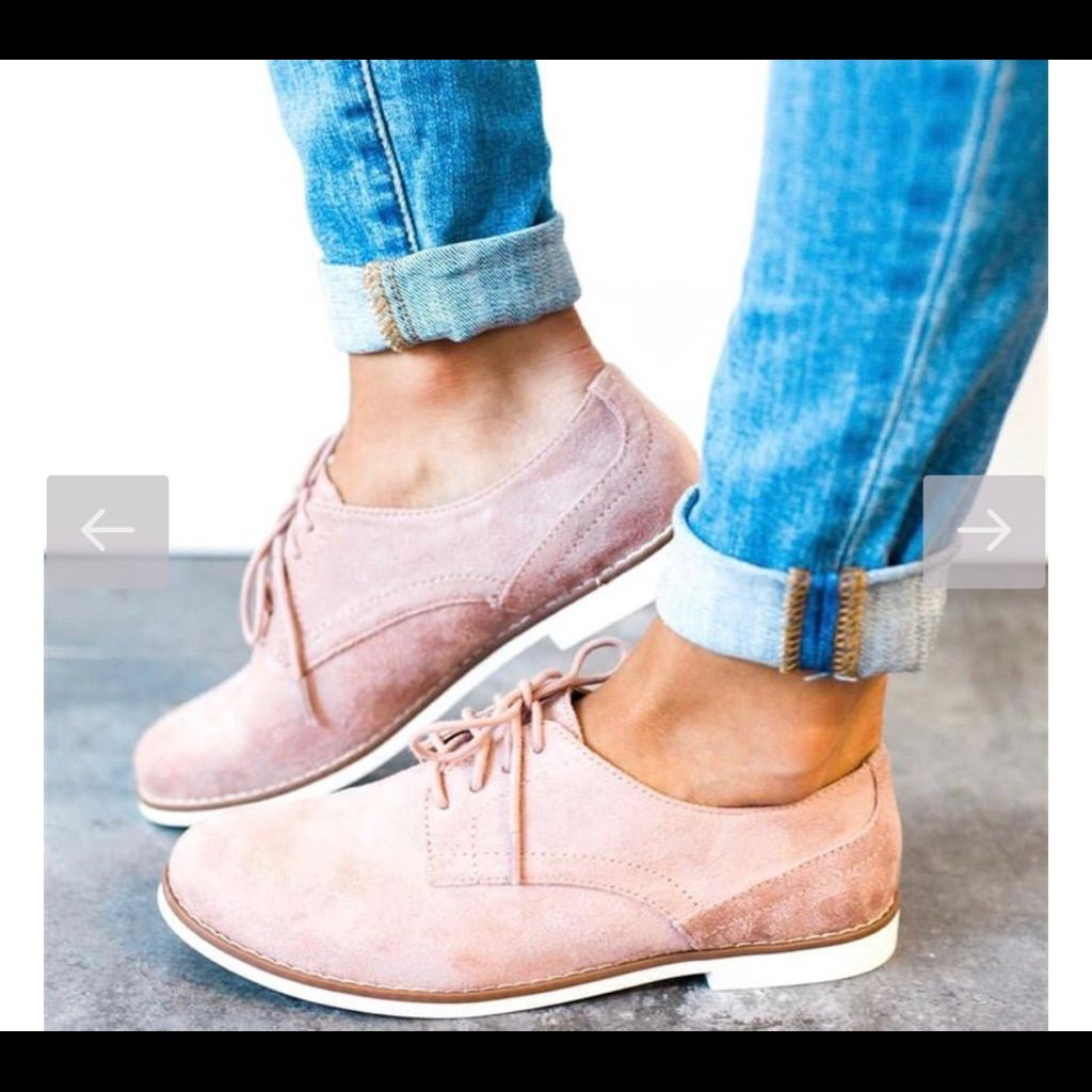 Pink Oxfords | Color: Cream | Size: 8.5