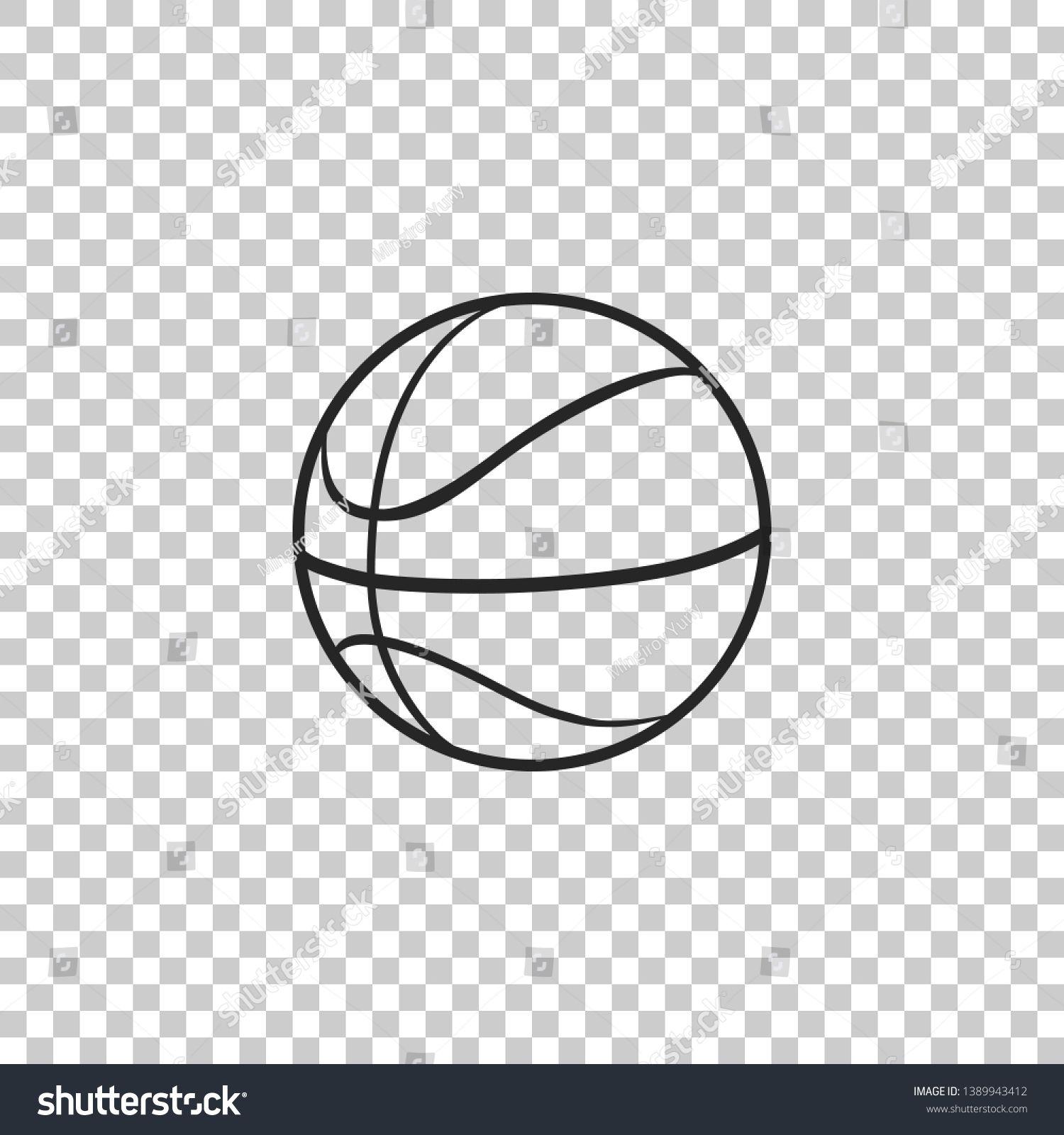 Basketball Ball Icon Isolated On Transparent Background Sport Symbol Flat Design Ad Spon Isolated Transparent Icon Basketb Basketball Ball Icon Symbols
