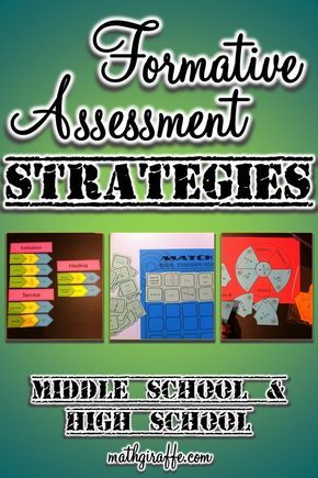 For those that are teaching middle school and high school this is a - formative assessment strategies