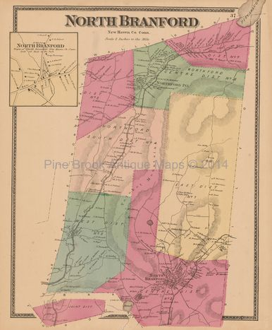 North nford Connecticut Antique Map Beers 1868 | Antiques ... on naugatuck state forest map, ct county map, beacon falls ct map, black rock ct map, lake ct map, shelton ct map, city of milford ct map, 1920 city of waterbury ct map,