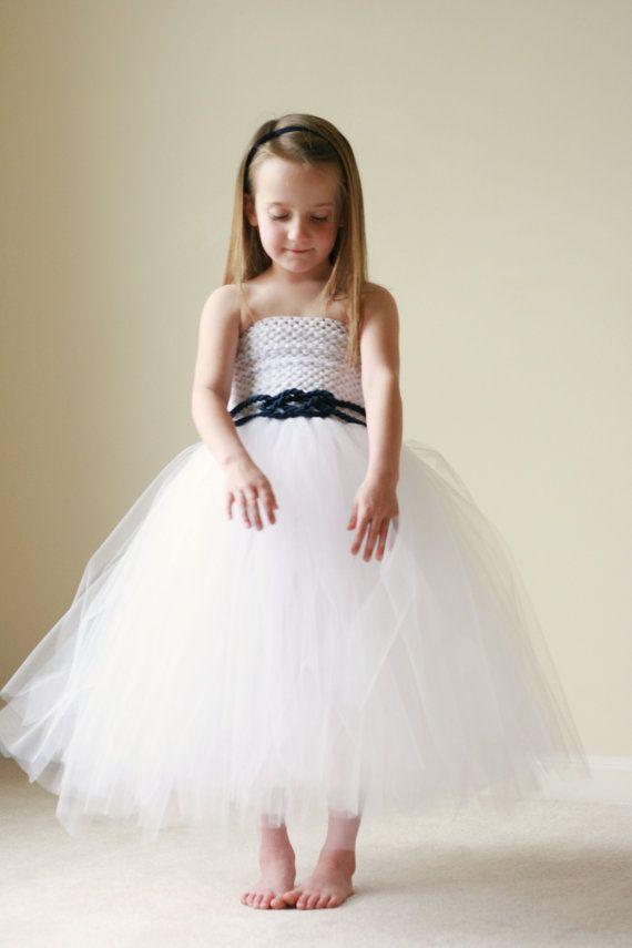 Custom Flower Girl Dress - Nautical Flower Girl Dress - Nautical ...