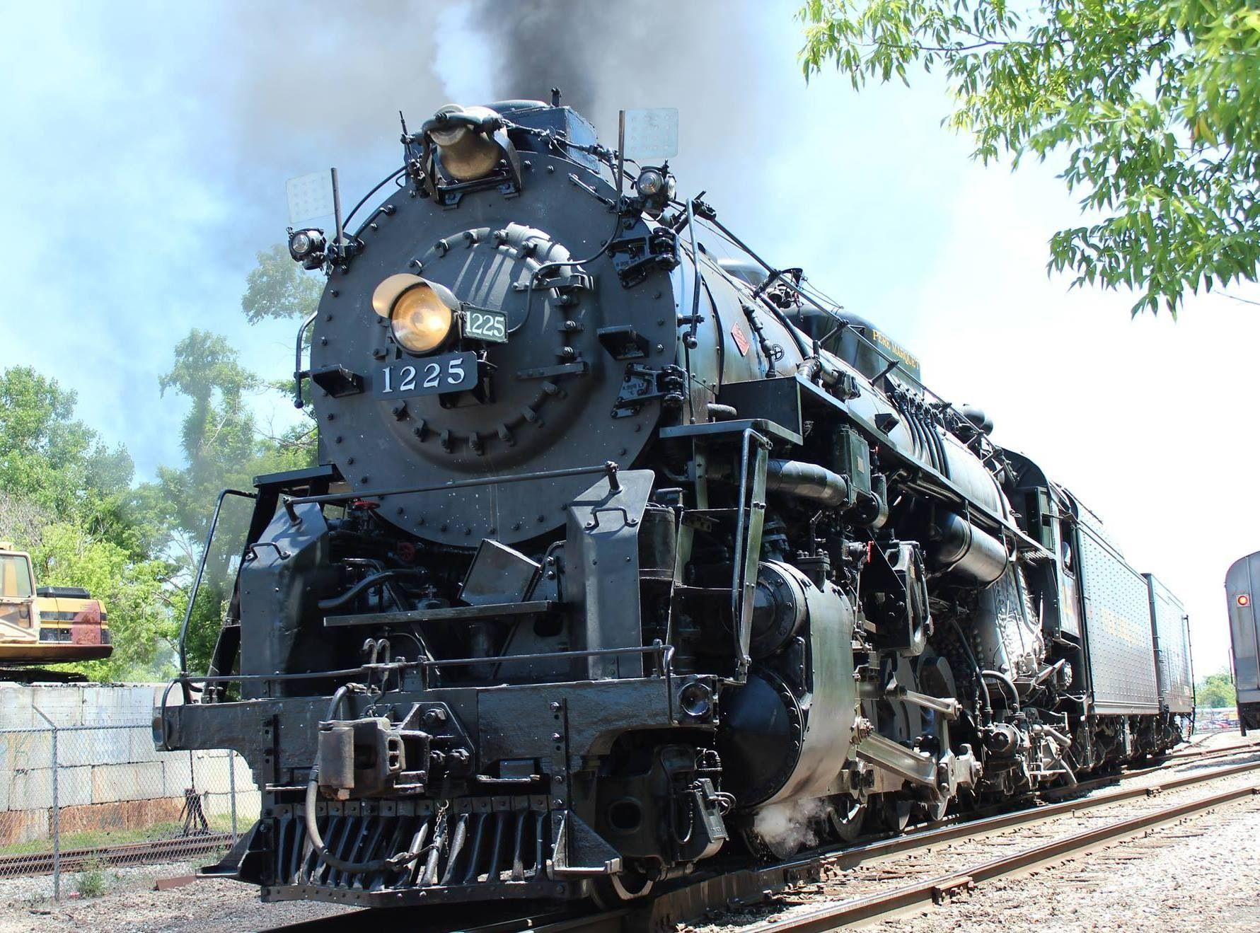 The Steam Railroading Institutes own Pere Marquette 1225 at Train Expo  2014, Owosso, MI