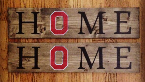 Block O Ohio State Home Sign Ohio State Crafts Buckeye Crafts State Crafts