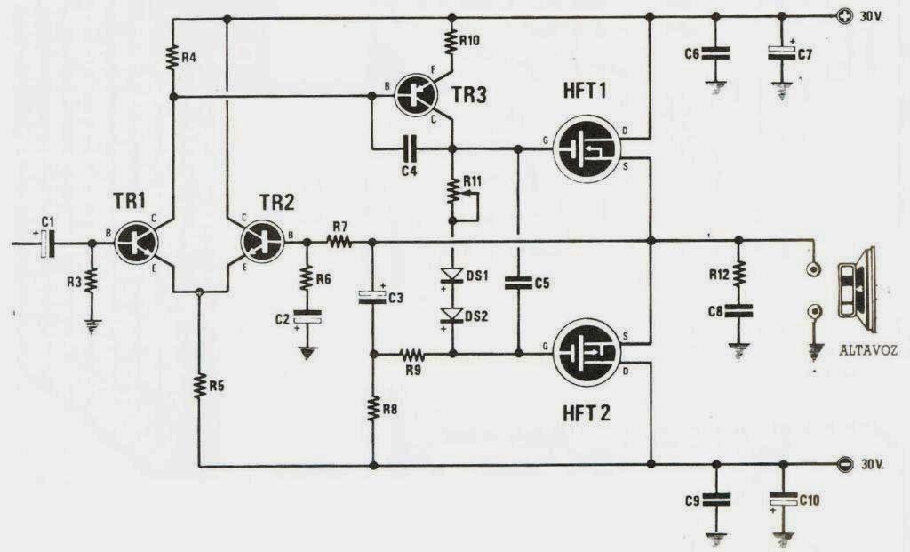 amplificador 50w con mosfet jpg  1024 u00d7621