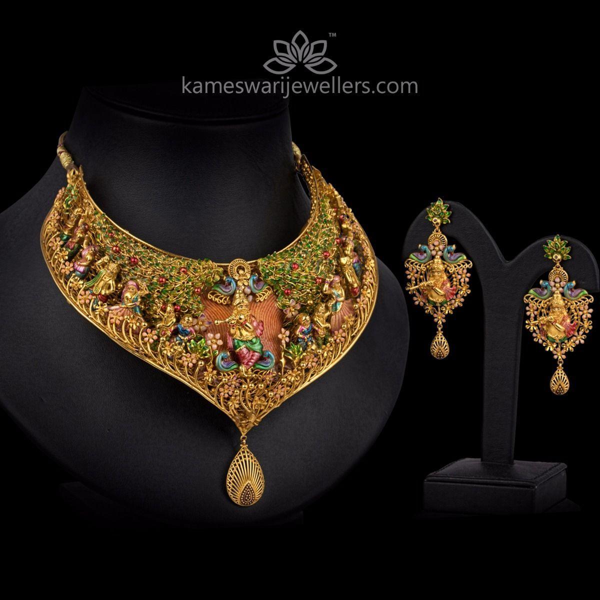 9ba217c3d2 Sri Krishna Brindavanam in 2019 | jewellery | Rajputi jewellery ...