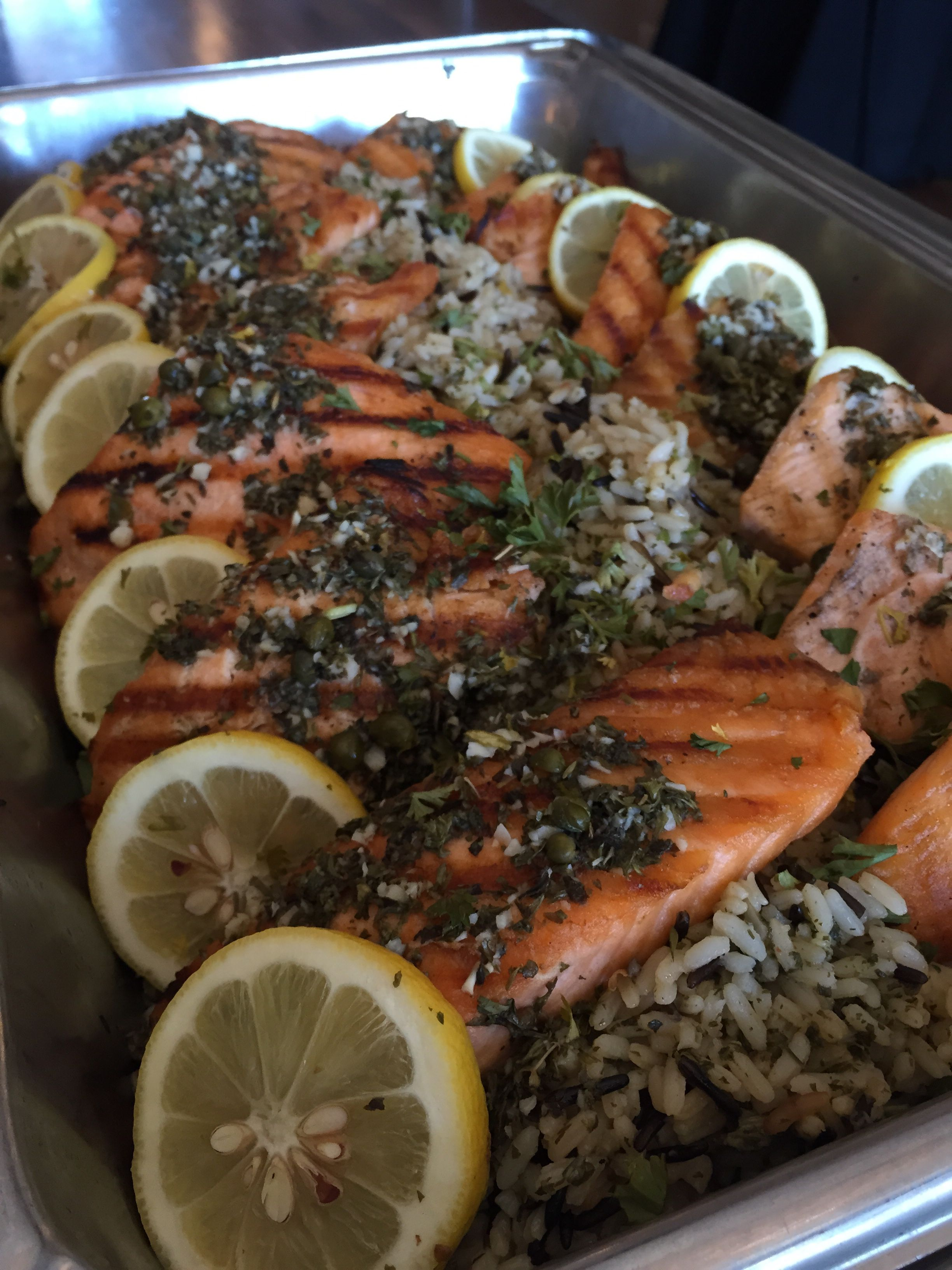 Grilled Salmon! #iucatering