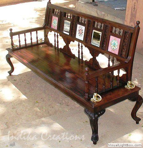 Rosewood Bench Vintage Bedroom Decor Wooden Sofa Designs Vintage Furniture