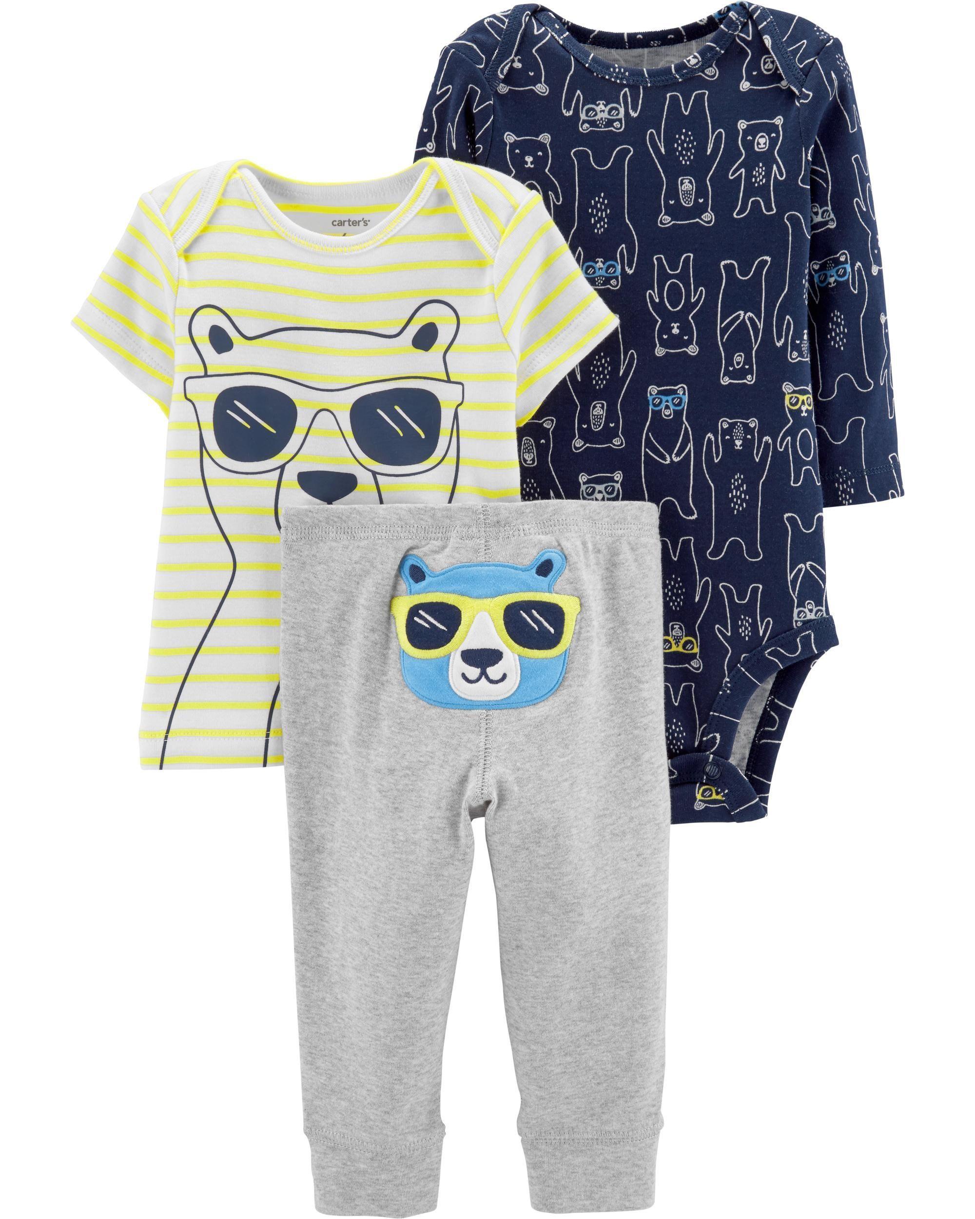 7b990ed20 3-Piece Bear Little Character Set | Leo | Carters baby boys, Carters ...