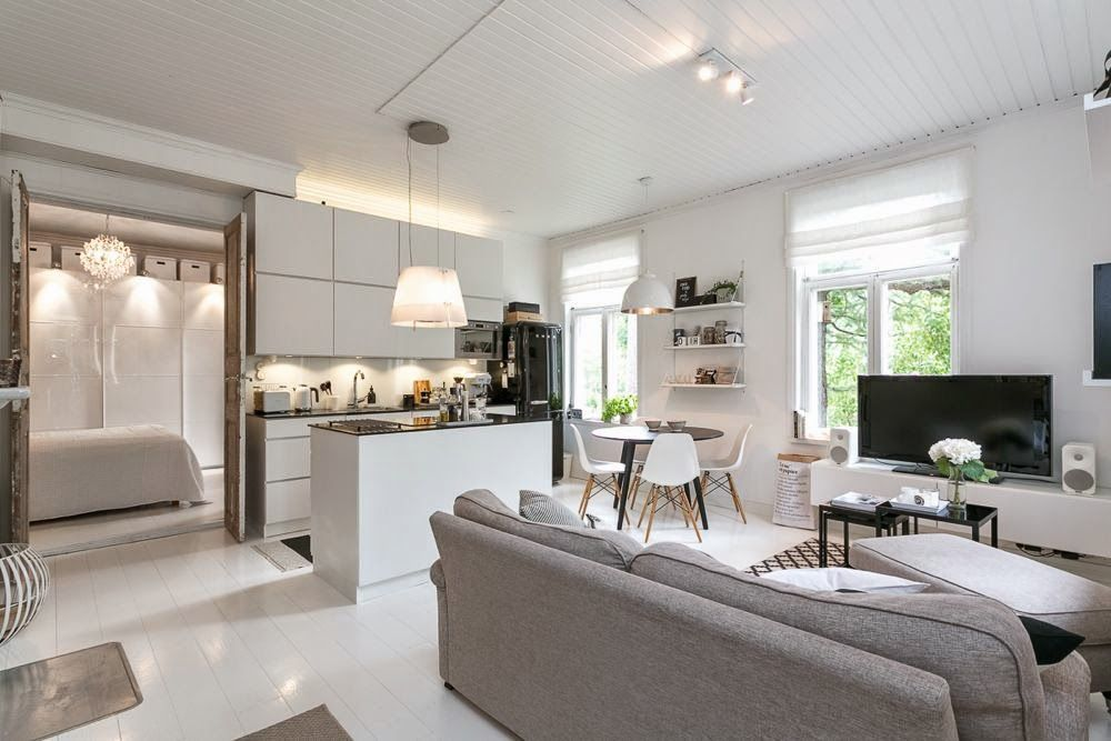 open space con cucina e soggiorno in 25 mq idee e consigli. Risultati Immagini Per Cucina Soggiorno Open Space 50 Mq Decoracao Cozinhas Casas