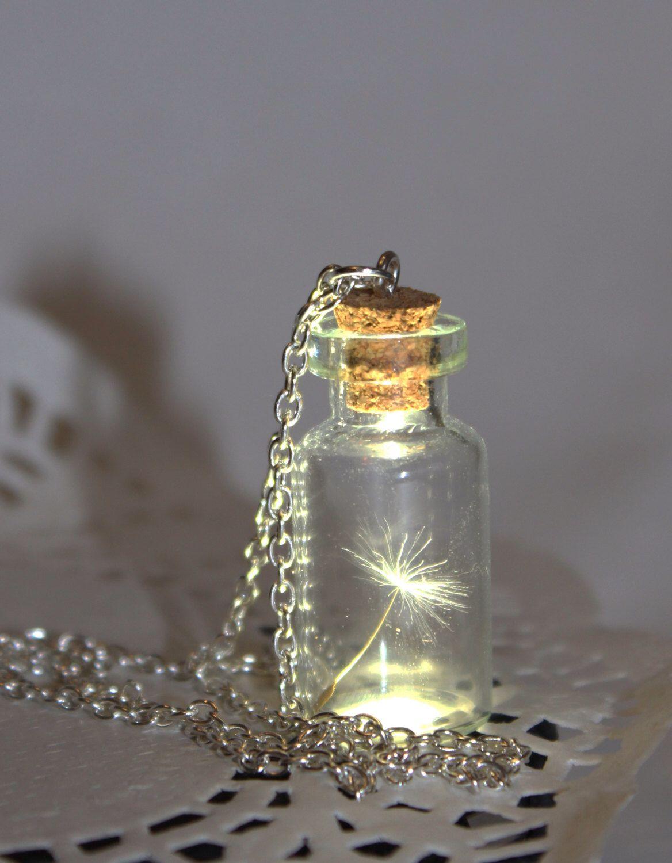 Uno speciale desiderio, seme di dente di leone in una bottiglia, botanico flacone terrario collana - bottiglia pendente in vetro-gioielli botanici di SweetyLifeShop su Etsy https://www.etsy.com/it/listing/212832602/uno-speciale-desiderio-seme-di-dente-di