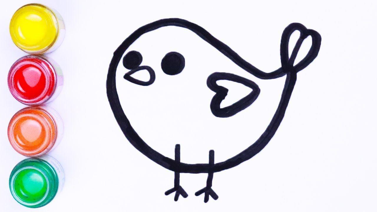 Menggambar Dan Mewarnai Burung Imut Cara Menggambar Lukisan Warna Cara Menggambar Gambar Burung Burung