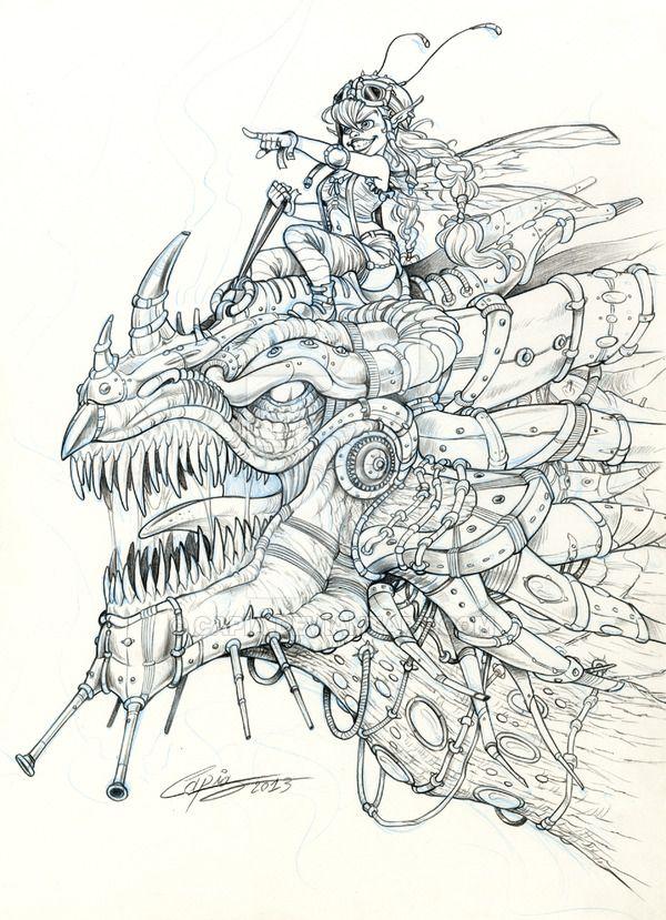 SteamP dragon by Capia.deviantart.com on @DeviantArt | big eyes ...