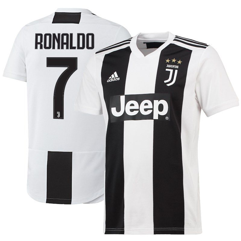 3256ff35e Cristiano Ronaldo Juventus adidas Youth 2018 19 Home Replica Player Jersey  – White