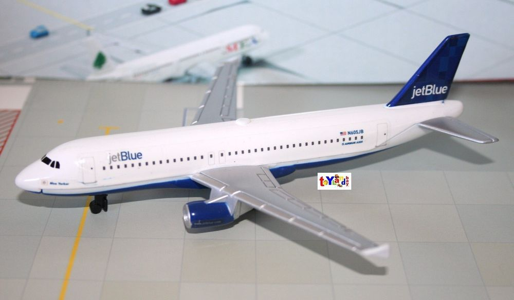 Diecast JetBlue Airlines Airbus 320 Blue Yorker OLD Livery 1300 - how would you weigh a plane without scales