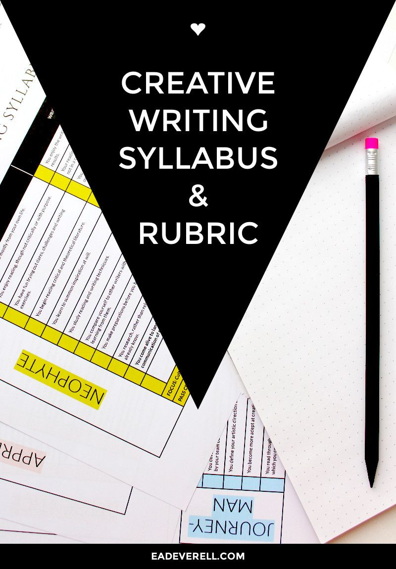 creative writing syllabus amp rubric for writers and tutors