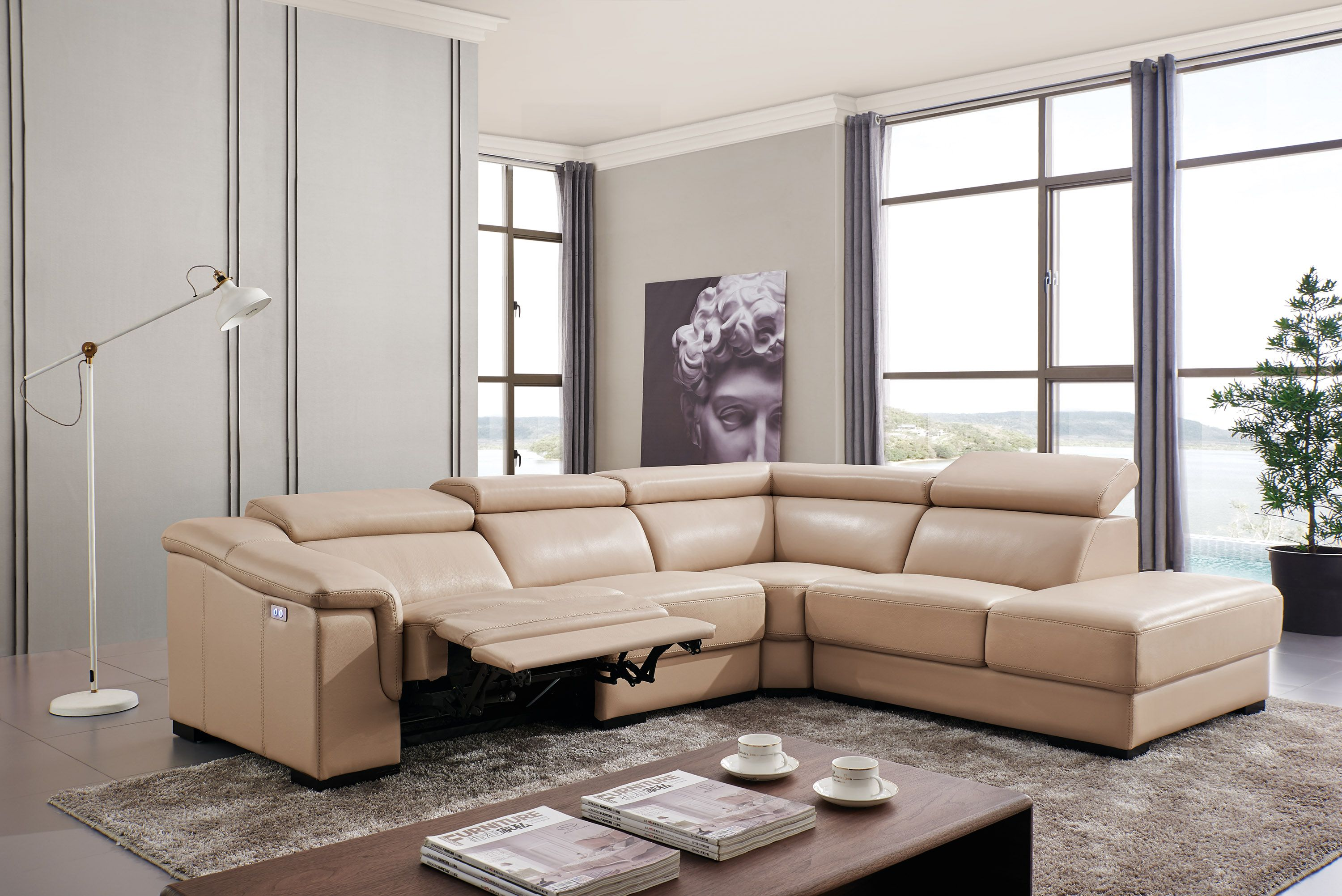 Recliner Sofa New Design SIze L Shaped Sofa Set Italian