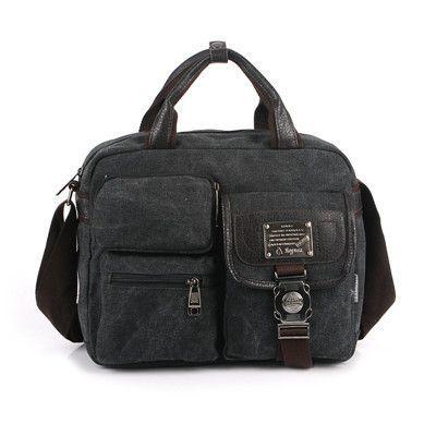 Men Shoulder Briefcase Messenger Bags Canvas Men Handbags 2016 Men's Briefcase Handbag Retro Canvas Briefcase Bag New Man Maleta