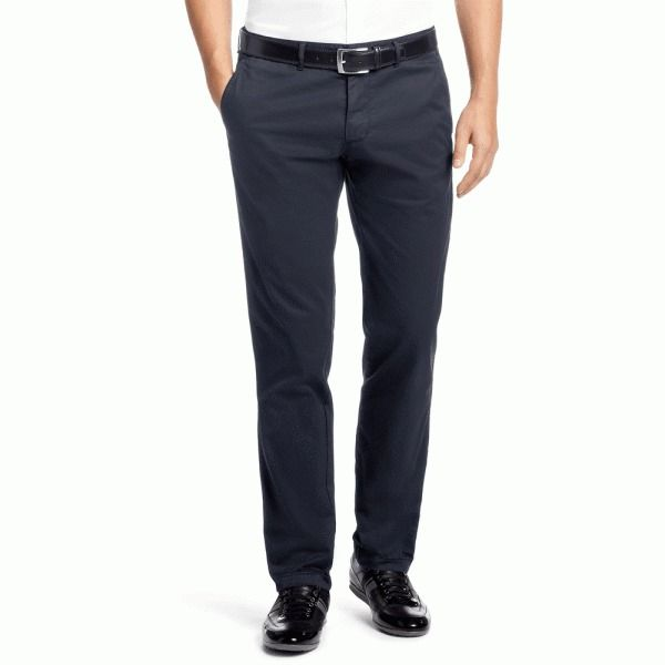 BOSS Hugo Boss Crigan 2-15-W Navy new Men's Chinos Pants Trousers 34