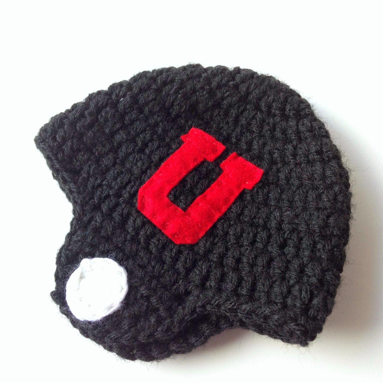 Five Little Monsters Crocheted Football Helmet Hats Free Pattern
