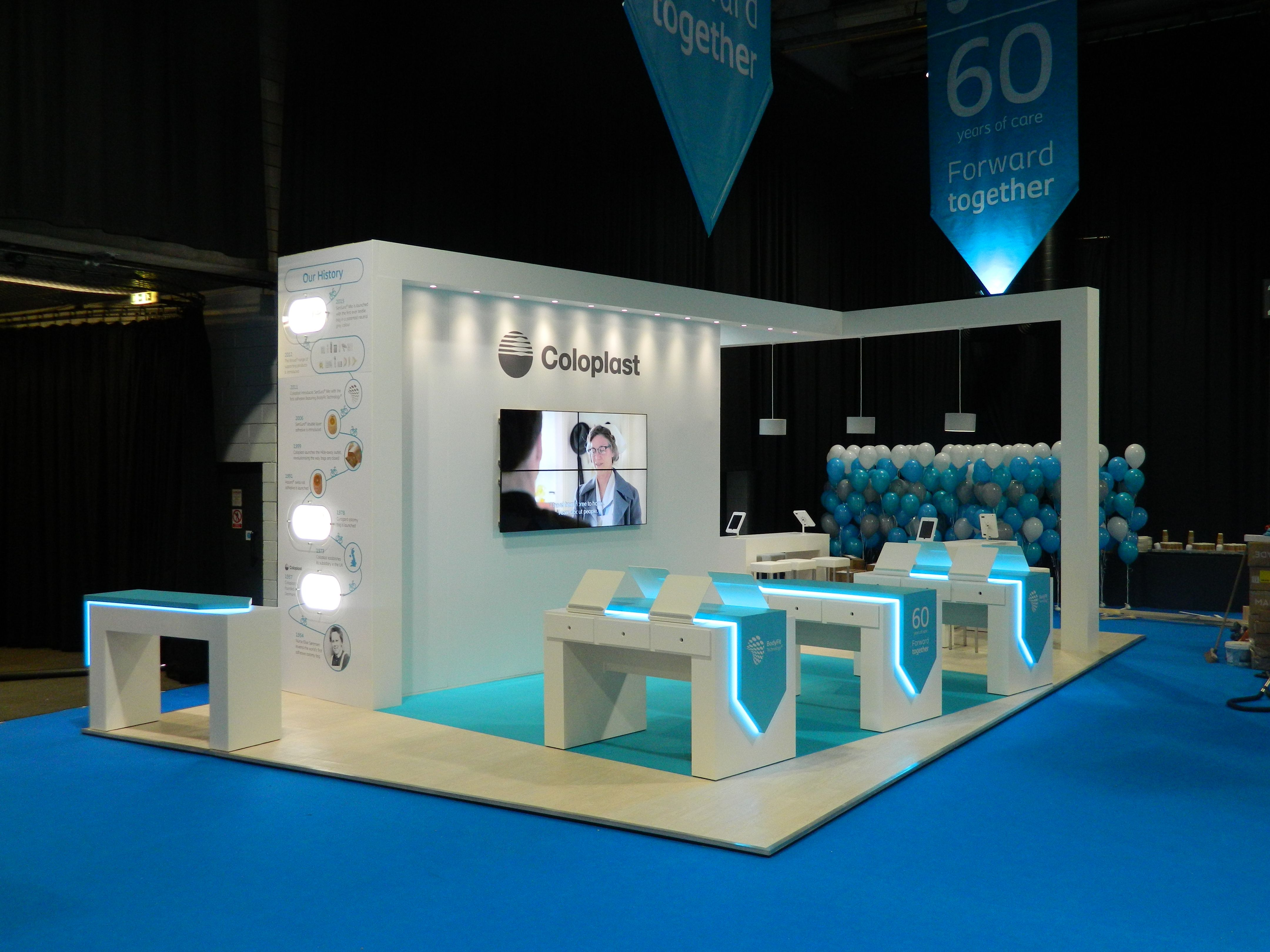Exhibition Displays Glasgow : Coloplast exhibition stand at ascn in glasgow exhibit stand