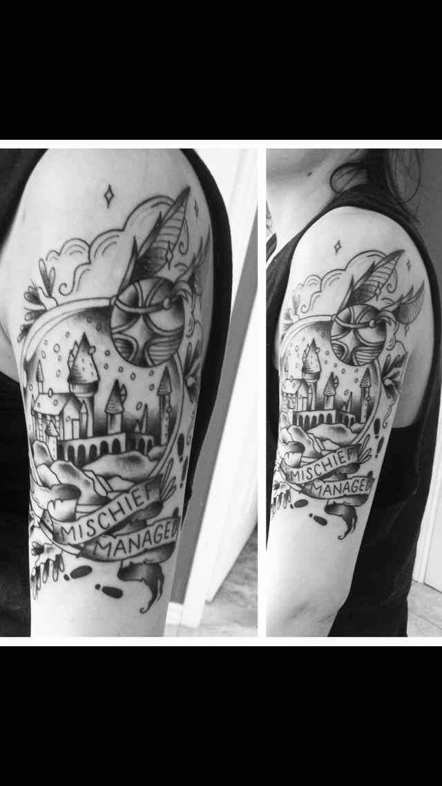 Harry potter sleeve harry potter tattoos pinterest for Harry potter sleeve tattoo