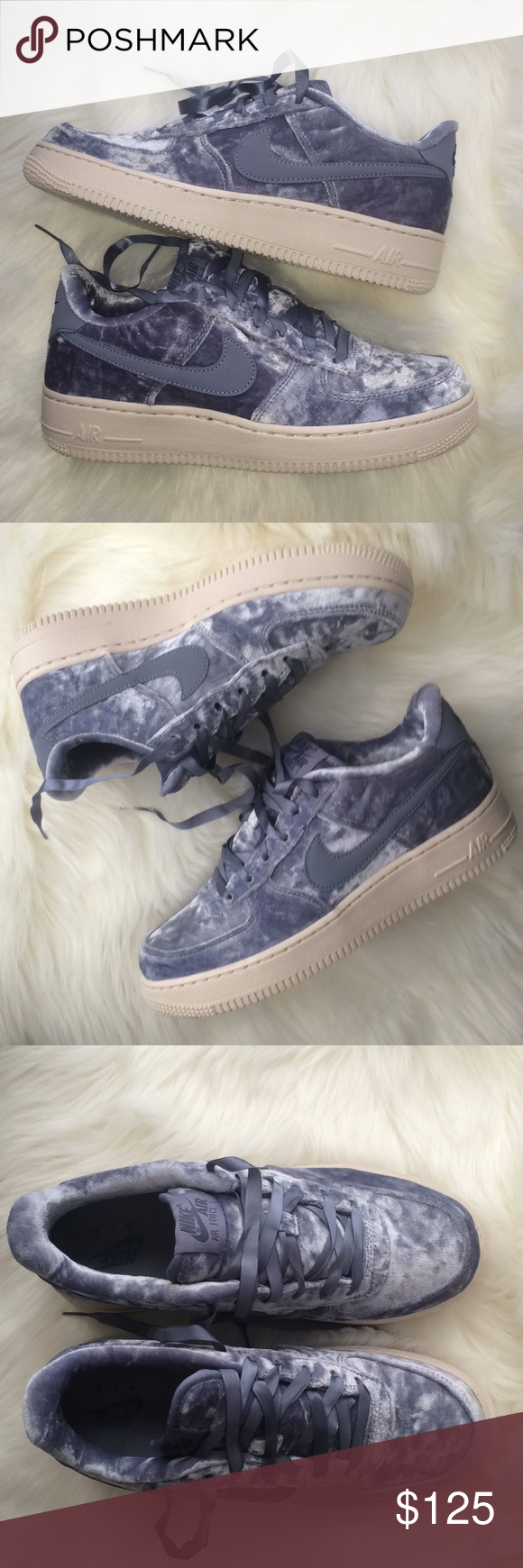 purchase cheap 339d4 59ee2 Nike Air Force 1 Lv8 sky blue soft velvet shoes Brand new without box. Size  6 youth which is a women s size 7.5. I have added a sizing chart for your  ...