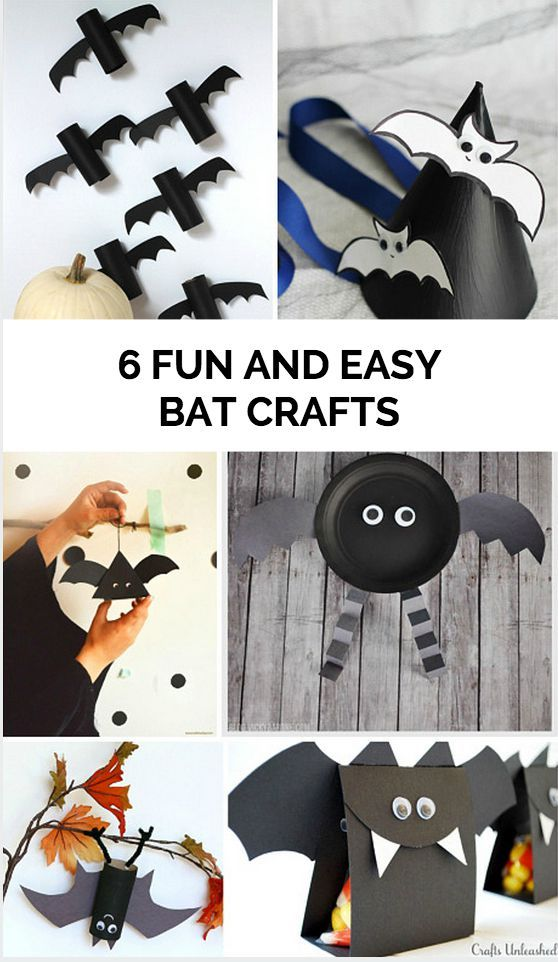 6 Fun and Easy Bat Crafts for Kids to celebrate Halloween - fun and easy halloween decorations