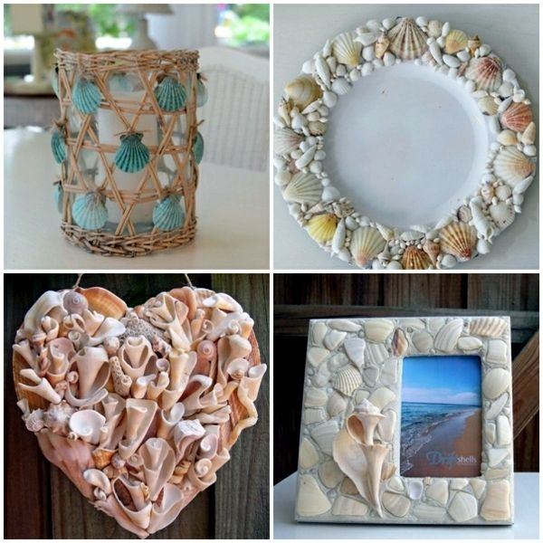 Make Home Decor Craft Ideas Part - 23: Maritime Decoration Make With Shells Themselves - 15 Craft Ideas