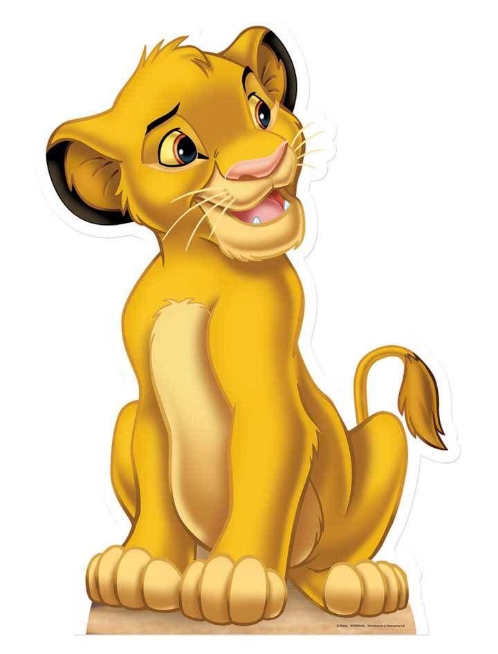 Simba Lion King Lifesize Cardboard Cutout Standee 1st Birthday