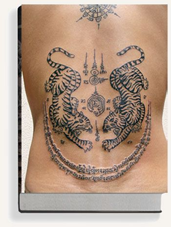 Traditional Thai Tattoo From Black Tattoo Art book by Needles and Sins (formerly Needled), via Flickr