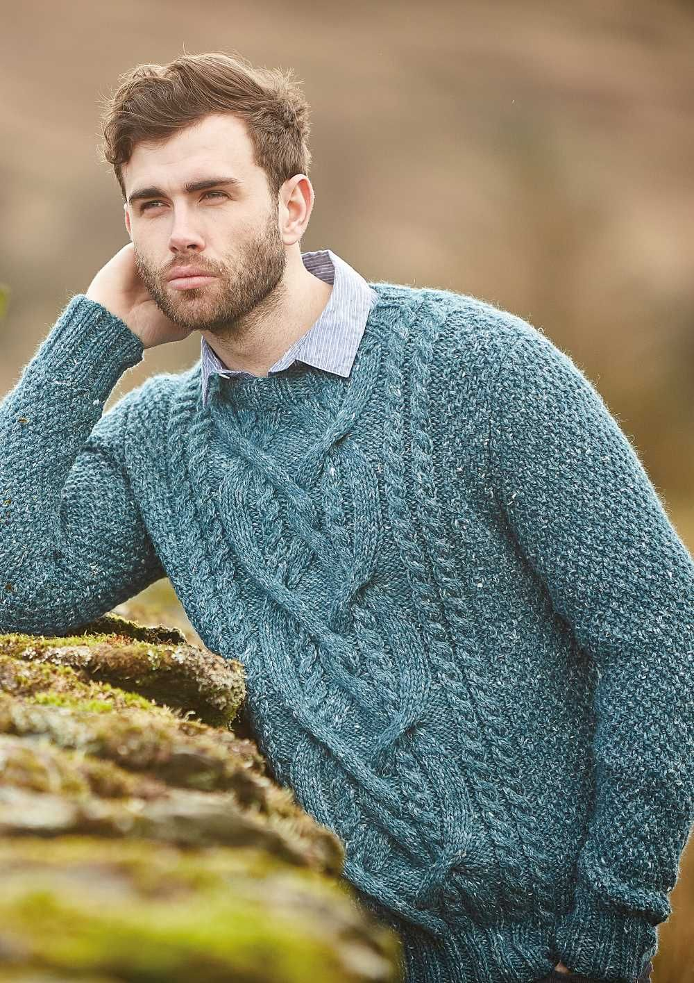 24 Men S Cable Knit Sweater Pattern Free Men S Aran Jumper