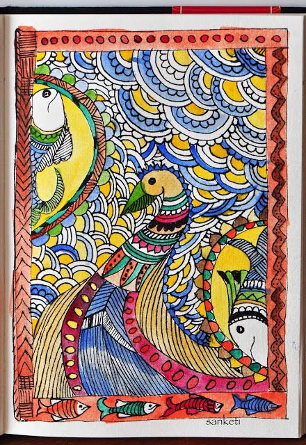 Madhubani Painting Indian Folk Art