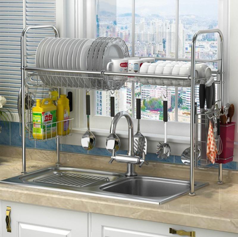 Stainless Steel Dish Rack Organizer Kitchen Rack Sink Dish Rack