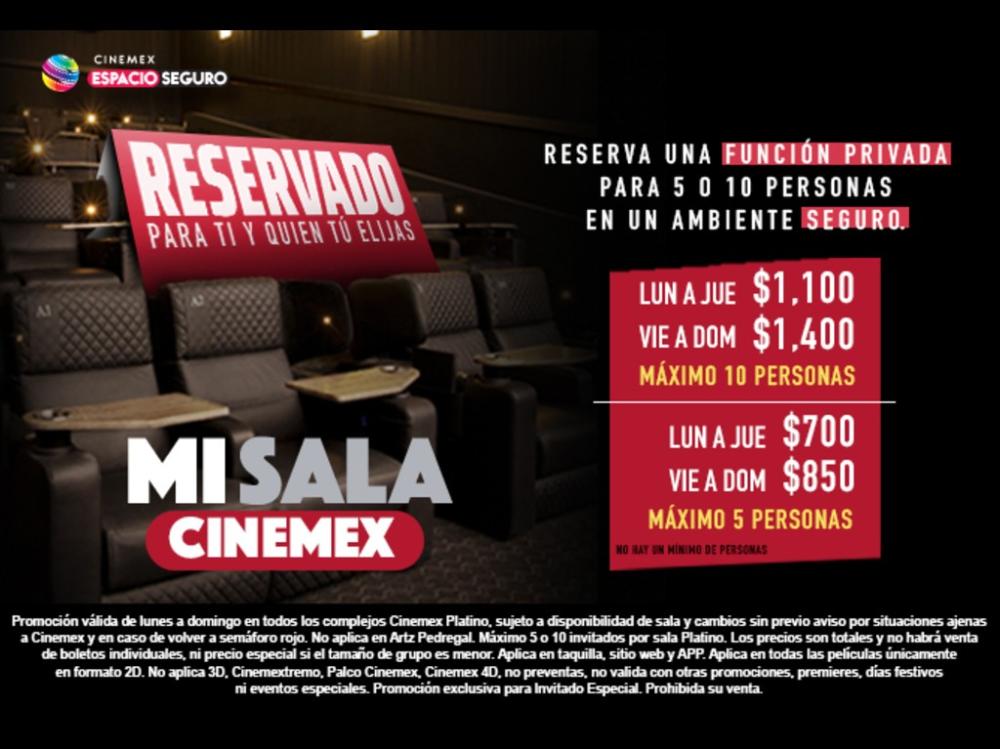 Renta Una Sala De Cine Para Ver Una Pelicula La Nfl O Jugar Videojuegos Cinemex Cine Entradas De Cine