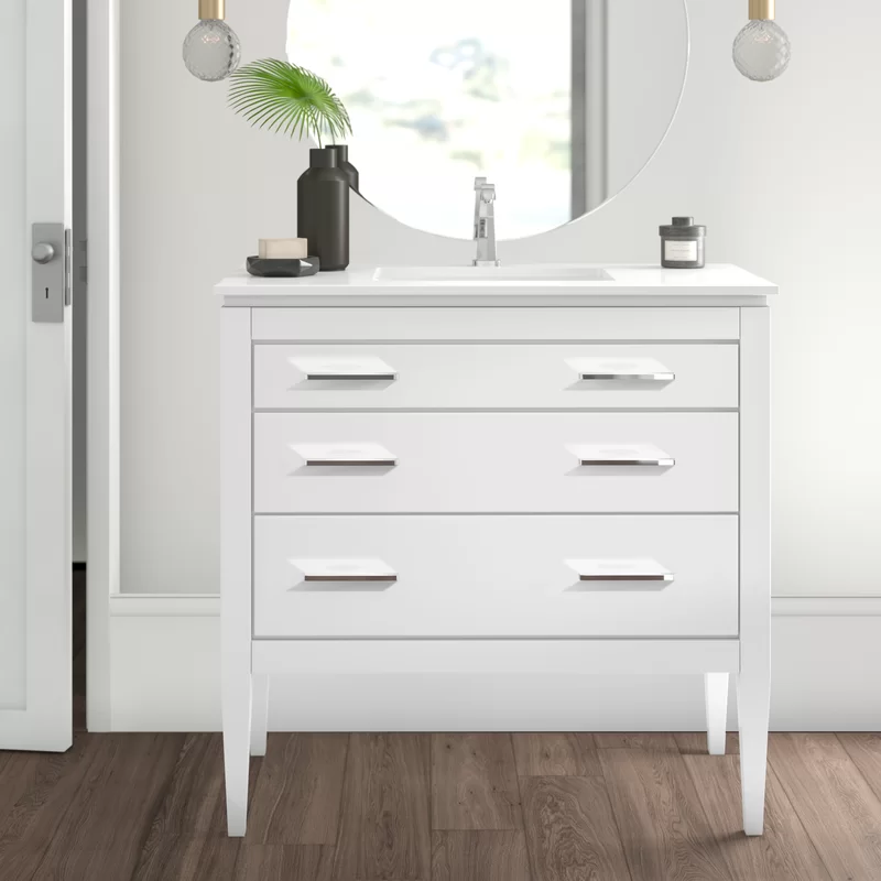 Goleta 36 Single Bathroom Vanity Set Reviews Birch Lane In 2020 Bathroom Vanity Single Bathroom Vanity Vanity