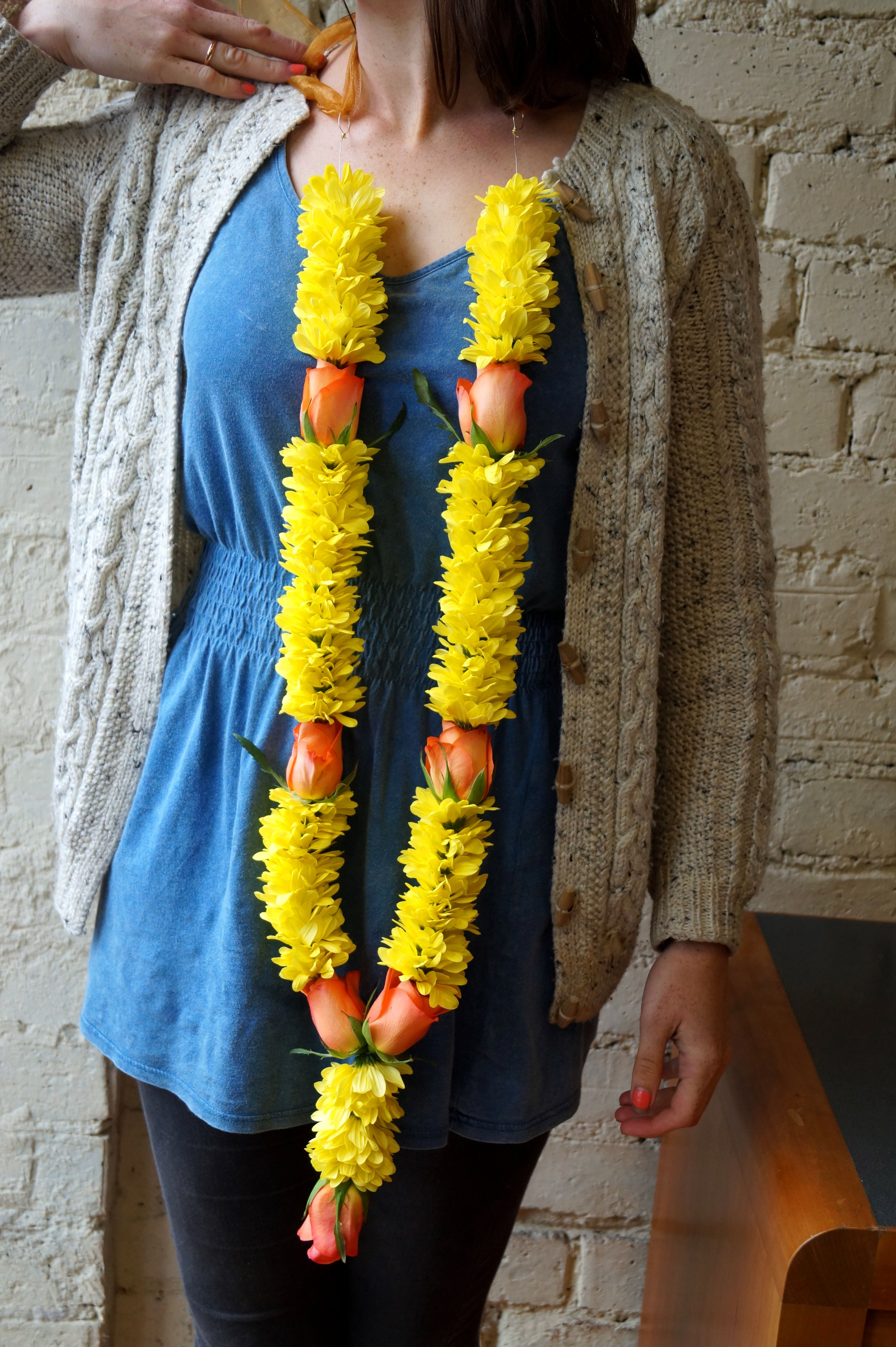 Cara Reid Modelling A Flower Garland Made For An Indian Wedding Last Week Its Always