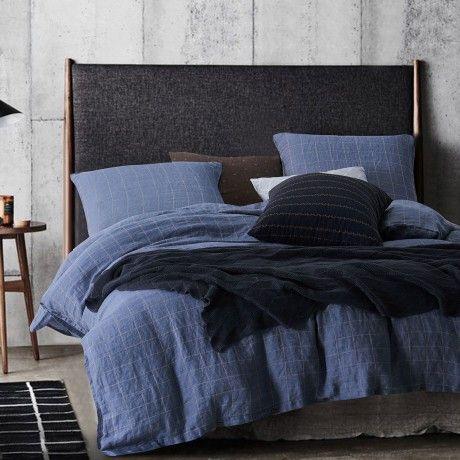 220x240 Bed Linen Blue Linen By Dayme Designed In Sweden