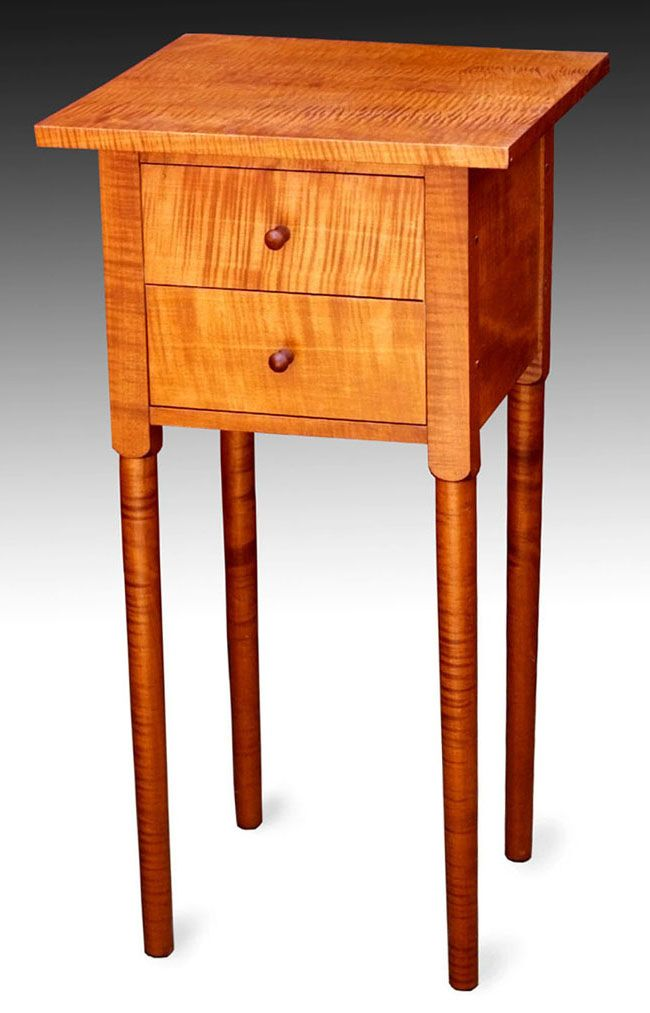 Beau Shaker Furniture To Fit   Tiger Maple End Table
