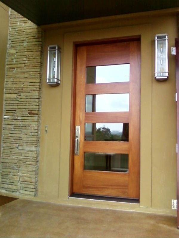 Modern Wood Door Custom 42 X 8 Mahogany 4 Lite
